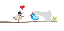 Give away Lutscher Hochzeitsvögel auf Ast