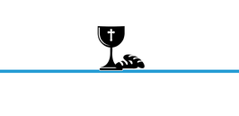 Menükarte Fischform für die Kommunion/Konfirmation, Design Kelch & Brot