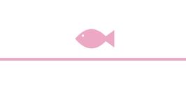 Menükarte Herzform Design Fische ♥ Taufe