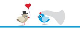 Give away Lutscher Hochzeitsvögel
