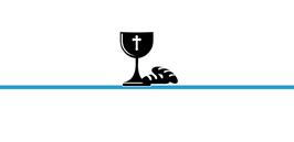 Platzkarte Fischform für die Kommunion/Konfirmation, Design Kelch & Brot