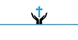 Menükarte Fischform für die Kommunion/Konfirmation, Design Hand/Kreuz