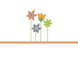 Fruchtgummi Geburtstag, Design Blumenwiese