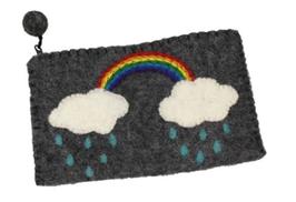 Filz Börse Regenbogen