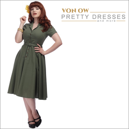 Caterina Swing Dress Oliv