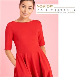 Hepburn Swing Dress Rot