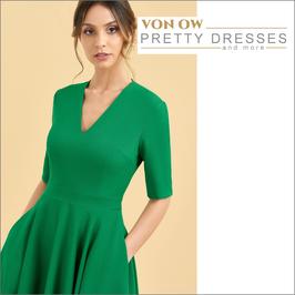 Myla Swing Dress Smaragd