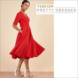 Myla Swing Dress Red