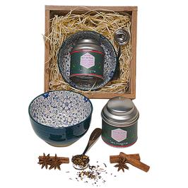 TEA - Petit Coffret de Noël Carré Bois