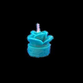 Bougie chauffe-plat bleu turquoise