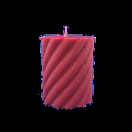 Bougie torsadé rouge