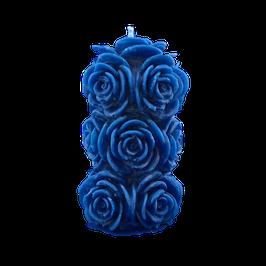 Bougie bouquet  bleu parfum muguet
