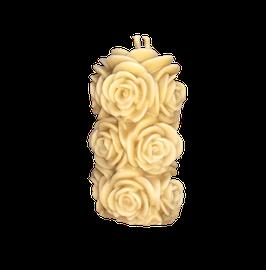 Bougie pour la havdala bouquet de rose blanche