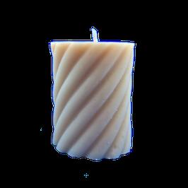 Bougie torsadé blanc