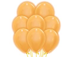 5 goldene LED Luftballons ca. 30cm Durchmesser