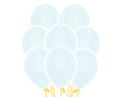 5 weiße LED Luftballons ca. 30cm Durchmesser