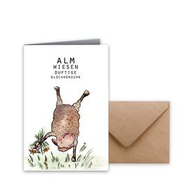 "Glückwunschkarte ""Almwiese"""