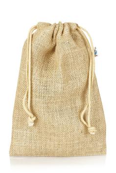 Jutesäckchen – natürlich und hochwertig. Für eine Flasche Olivenöl