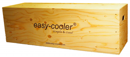 On request, your easy-cooler® system Vinothek can be packed in the wooden box that you can use for many applications!