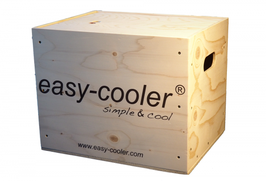 On request, your easy-cooler® system can be packed in the wooden box that you can use for many applications!