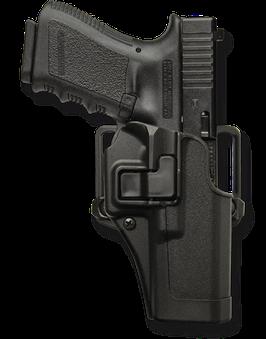 Blackhawk Serpa Holster schwarz matt Glock 19/23/32 Rechtshänder (45410502BKR)