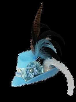 Unikat Trachtenhut hellblau Größe 56