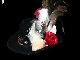 Unikat Trachtenhut schwarz