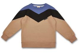Manitober Biobaumwoll Sweatshirt - Cut & Sew Blue Black Beige