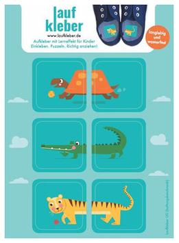 Laufkleber - Zootiere