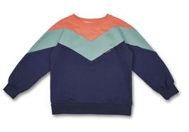 Manitober Biobaumwoll Sweatshirt - Cut & Sew Coral Mint Navy