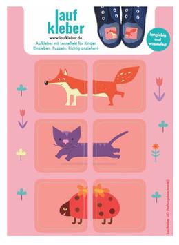 Laufkleber - Rosa Tiere