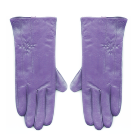 PURPLE Leather gloves