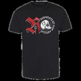 """Auswärts ist man Asozial T-Shirt """"Skull"""""""
