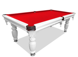7ft Luxury White Slate Pool/Billiards/Snooker Table Red Felt