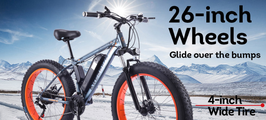 "AKEZ 350W 36V Snow Motorized Bicycle Electric Bike eBike 26"" w/ Battery AU"