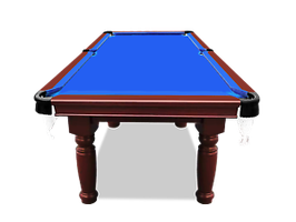 SMART SERIES 8FT MDF Blue Pool Table Billiards Round Leg w/ Accessories Pack