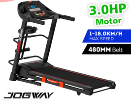 Jogway T15CLM 3.0HP Foldable Electric Treadmill With Multi-functional Accessories