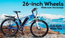 TAOCI Electric Bike Mountain City eBike 36V 10A Large Capacity Battery Blue!