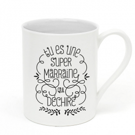 "Tasse ""Super Marraine"" CREA BISONTINE"
