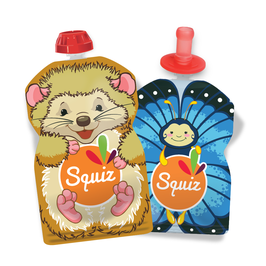 Lot de 3 gourdes souples Natures + 1 squiz top SQUIZ