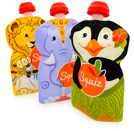 Lot de 3 gourdes souples SQUIZ