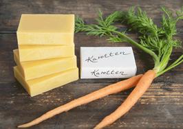 Karotten-Zitronenmelisse Bio-Naturseife «Amanda», handgemacht