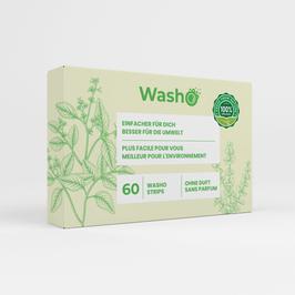60 Washo's ohne Duft, biologisch abbaubar