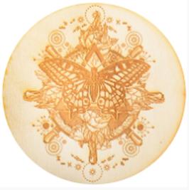 Crystal Grid Untersetzer - Schmetterling 30cm