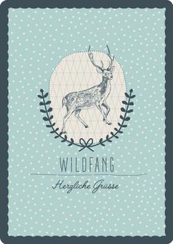 Postkarte – HIRSCH, Wildfang (KL 15152)