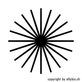 """Stempel """"MIDI"""" oder """"MINI"""" (24)  – Strahlenkreis"""