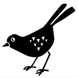 STEMPEL Vogel, Auge auf, rechts (M)
