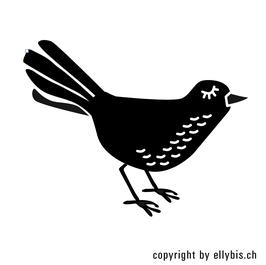 "Stempel ""MIDI"" – Vogel, links"