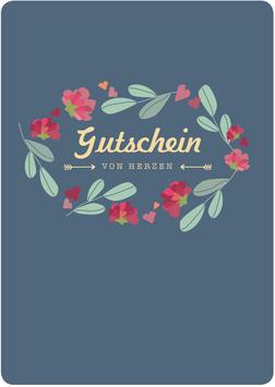 GUTSCHEIN Blumen marine (KL 20311)
