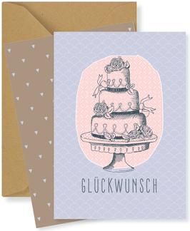 GLUCKWUNSCH, Torte lila (FKM 16211)